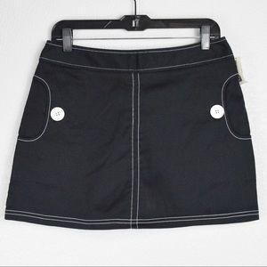 NWT Tangents Stretch Skort, Size 9/10, Black/White